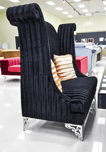 Double High Back Chair Savoy Black