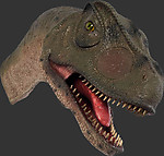 Allosaurus Dino Head Wall Mount Mouth Open