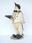 Penguin Butler Statue with Serving Tray 5FT