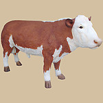 Hereford Bull Statue Life Size 9FT