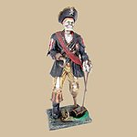 Skeleton Pirate with Wooden Leg and Hook Statue 3FT