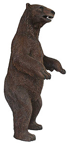 Large Grizzly Bear Standing Statue