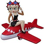 Betty Boop on Airplane