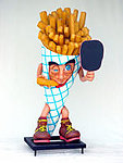 Large French Fries Display Statue with Chalk Board 6FT