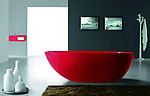 Dazio Red Freestanding Soaking Tub 73