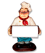 Chef Statue Tissue Holder Statue