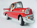 Red Chevy Car Wall Decor with Elvis