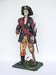Skeleton Pirate with Wooden Leg and Hook Life Size Statue 6FT