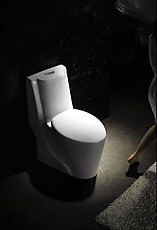 Tuscany Modern One Piece Dual Flush Bathroom Toilet 28.2
