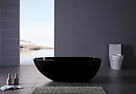 Dazio IV Black Freestanding Soaking Tub 70