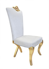 Chloe Modern Dining Chair White Velvet