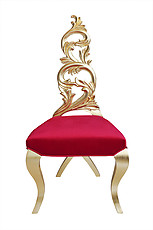 Diana Modern Dining Chair Red Velvet