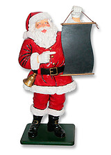 Santa With Menu Board Display Statue