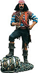 Pirate with Barrel Life Size Statue