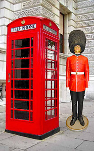 London Red Telephone Booth English Iron Phone Box