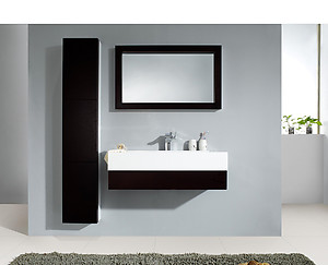 Tazzo Modern Bathroom Vanity Set With Side Cabinet And LED Mirror 39.5