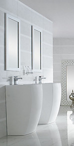 Modern Bathroom Pedestal Sink - Bolzano