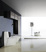 Modern Bathroom Toilet - One Piece Dual Flush - Trapani