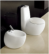 One Piece Dual Flush Modern Bathroom Toilet - Cerchio