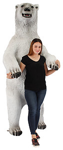 Large Polar Bear Standing Statue