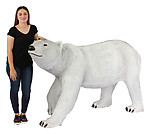 Large Polar Bear Walking Statue