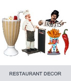 Restaurant Decor, Food Signs, Ice Cream Statues, Chef Menu Board Displays