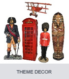 Pirate Decor, London Telephone Booth, Egyptian Statues