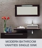 modern bathroom vanities single
