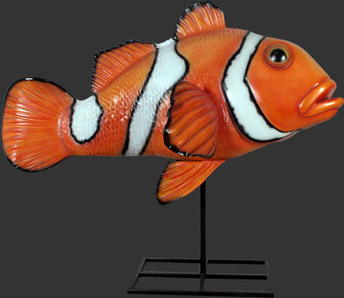 Giant clownfish on stand statue for Clown fish price