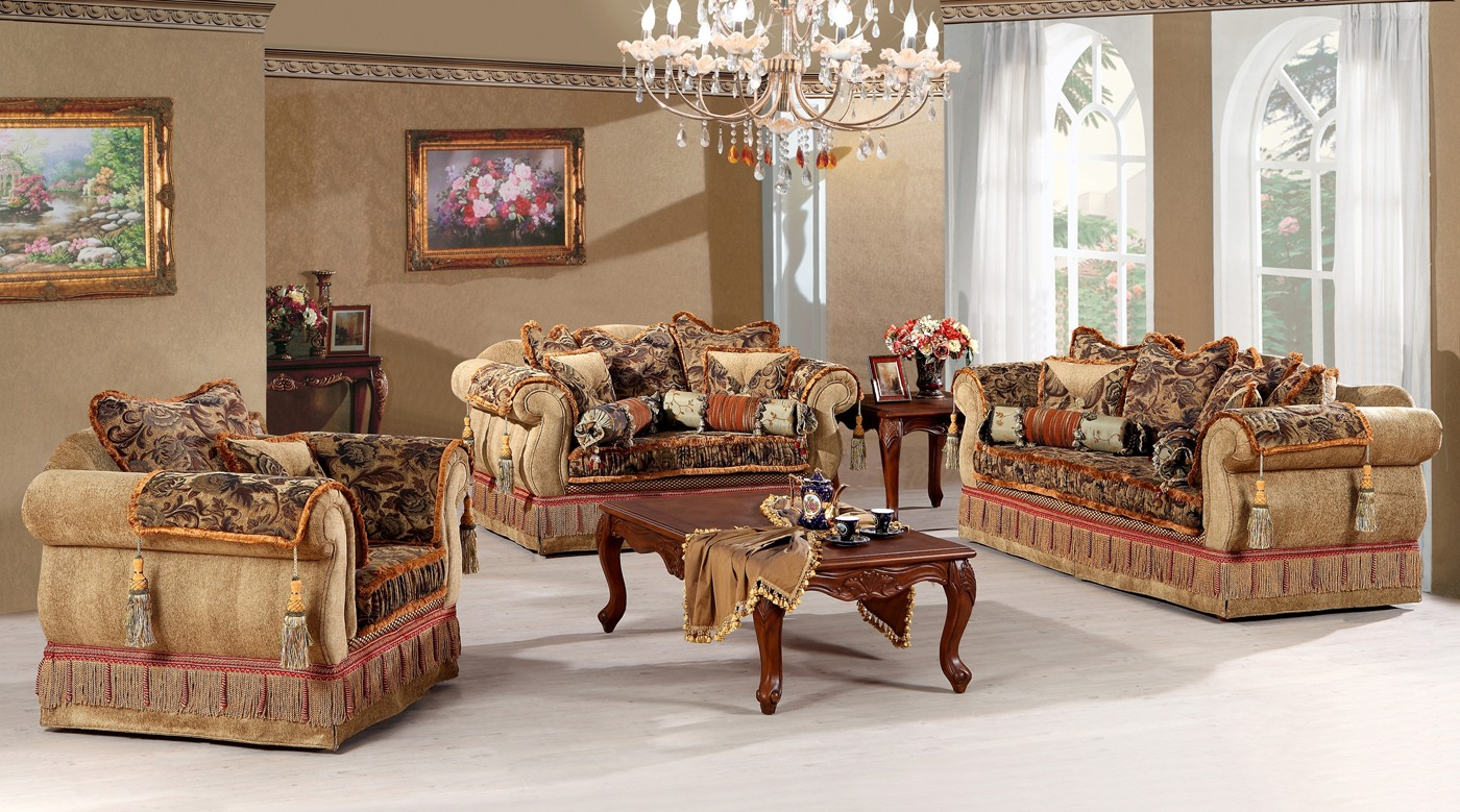 3 345 Josephine Luxury Living Room Sofa Set