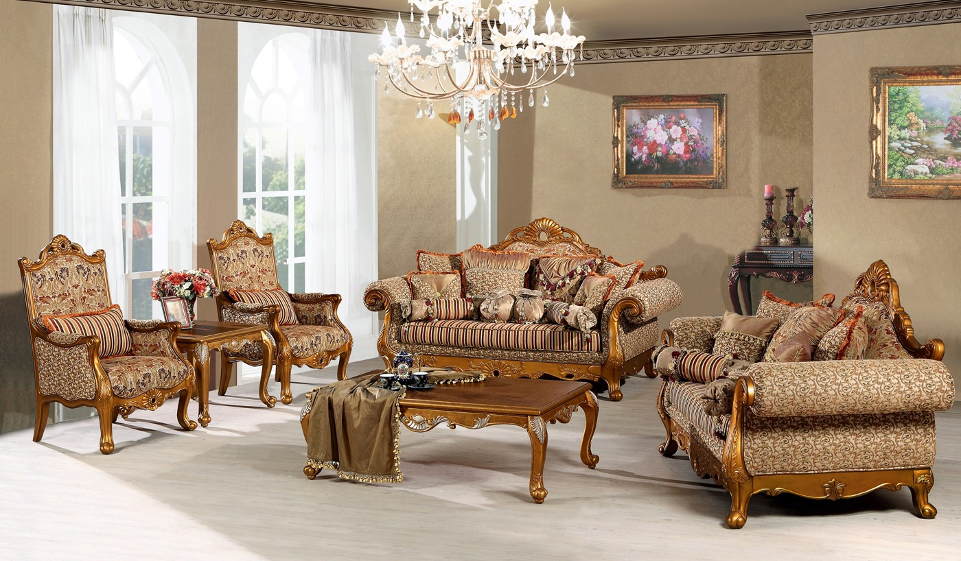 3867 luxury living room sofa set for Upscale living room furniture