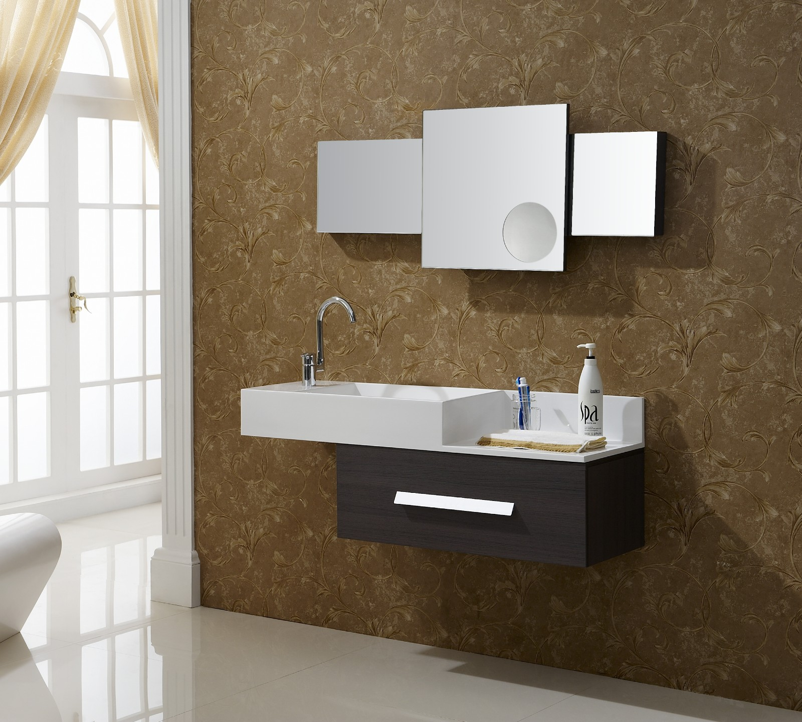 Aviateur  Modern Bathroom Vanity Set 51quot;