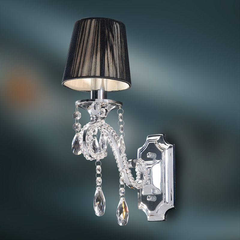 Wall Sconce Crystal Lighting : Crystal Wall Lamp - K9 Crystal Chandelier Wall Sconce - Polished Chrome Finish eBay