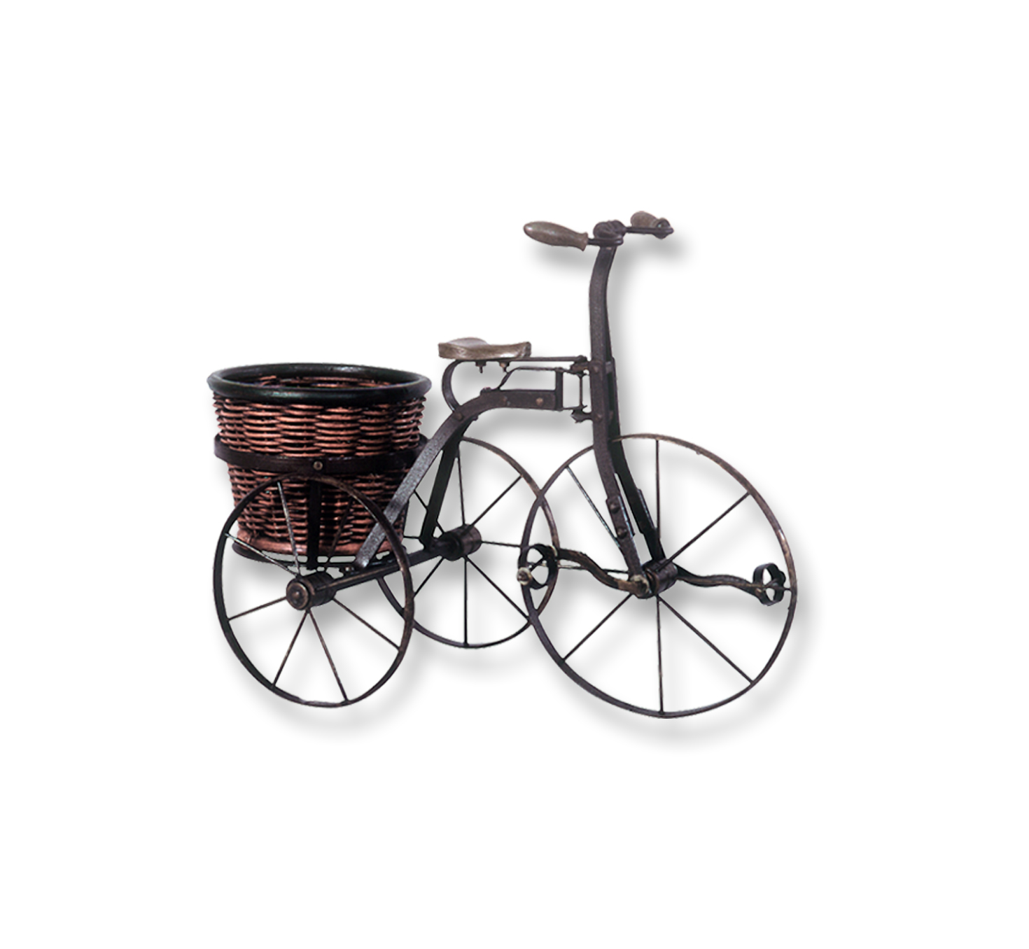 Bathroom sink dimensions - Antique Iron Bicycle With Round Basket