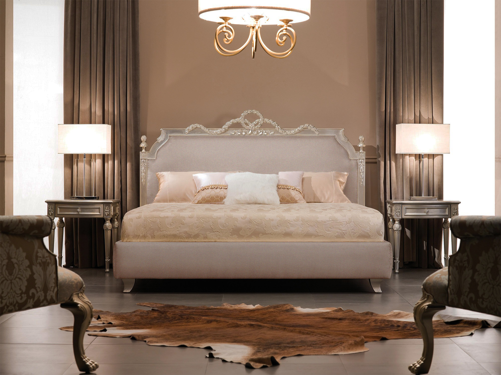 Luxury Bed  Baroque Bed  Ambassador  Shiny Taupe