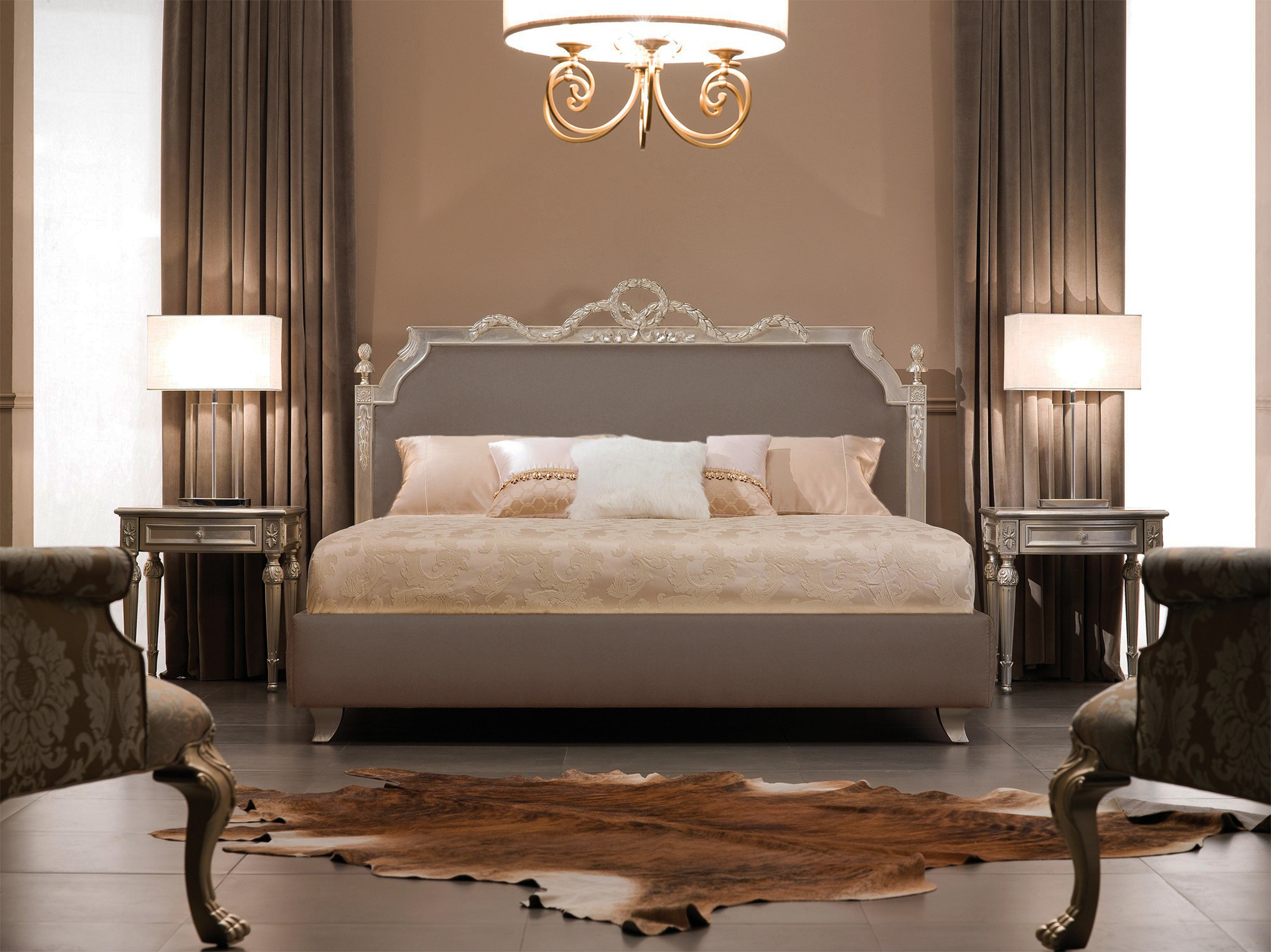 Modern Baroque Bedroom Luxury Bed Baroque Bed Ambassador Taupe
