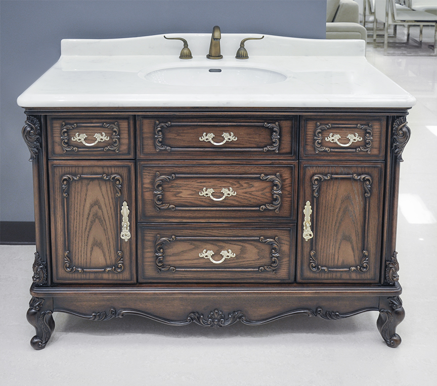 Antique Bathroom Vanity Cabinet: Marseille Antique Bathroom Vanity Set