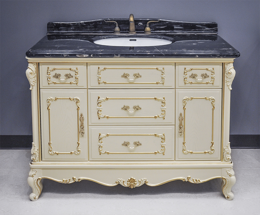 Marseille Antique Bathroom Vanity Set  White