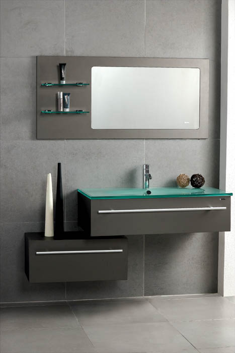 Modern bathroom vanity triton for Contemporary bathroom sinks and vanities