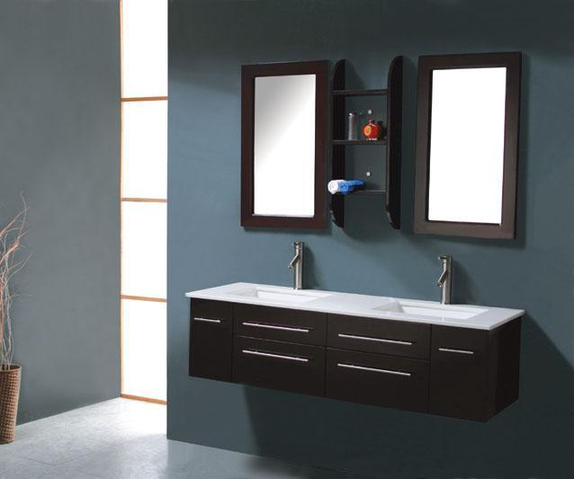 Modern bathroom vanity milano iv for Modern bathroom cabinets ideas