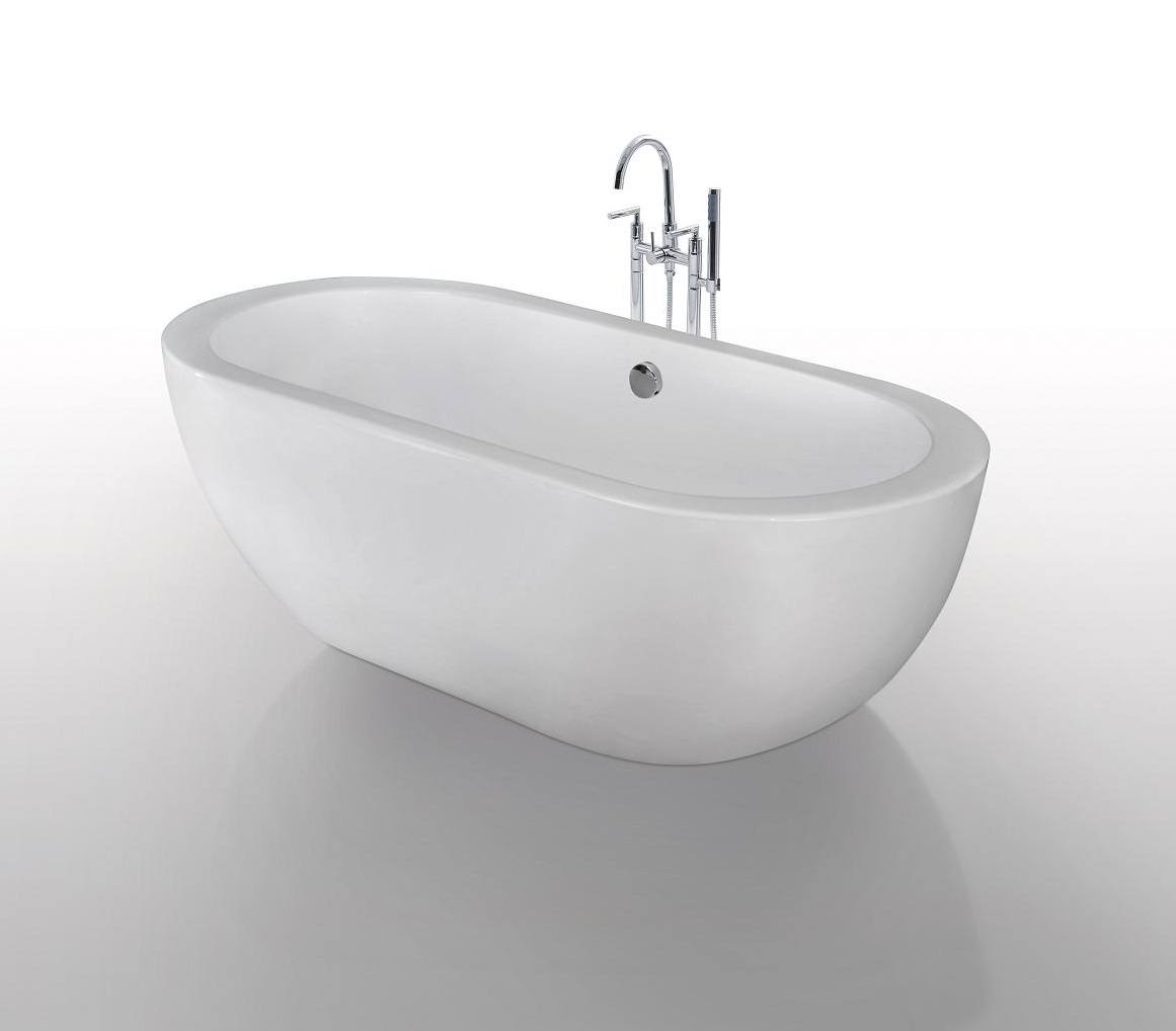 Biagio acrylic modern freestanding soaking bathtub 68 for Acrylic soaker tub