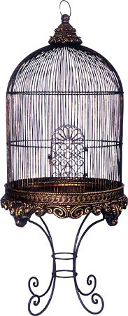decorative bird cage with stand bronze imperial. Black Bedroom Furniture Sets. Home Design Ideas