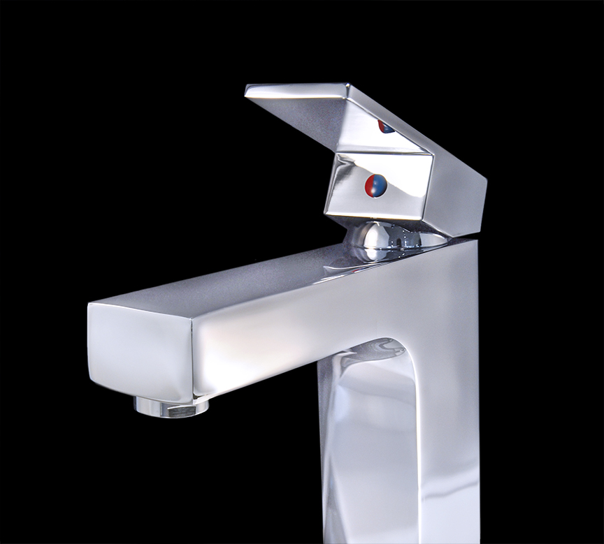 Giovanni Chrome Finish Modern Bathroom Faucet