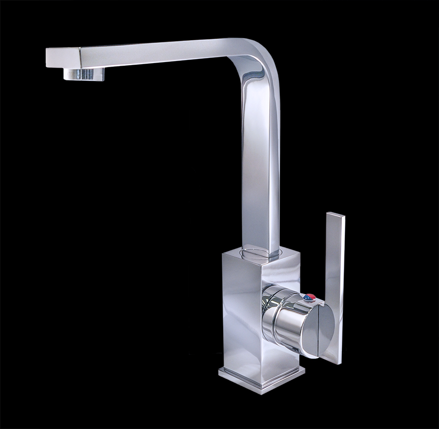 Maciano chrome finish modern bathroom faucet for Modern bathroom fixtures
