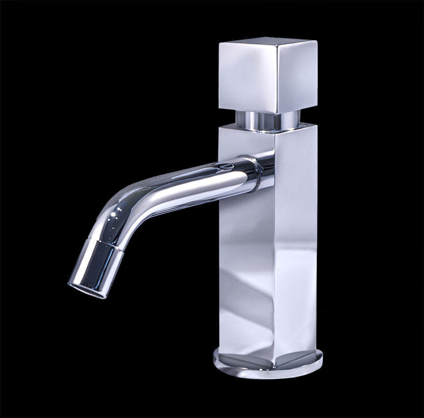 Zara chrome finish modern bathroom faucet for Bathroom sink faucets