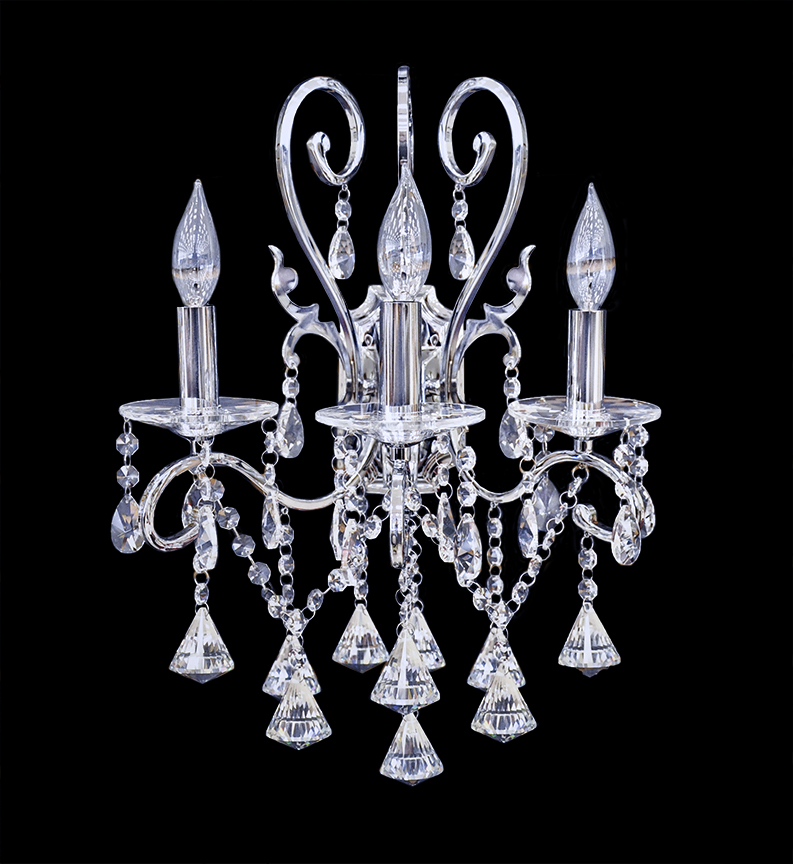 Wall Sconces Crystal : Wall Lamp - Crystal Wall Sconce - Wall Light - Atollo II