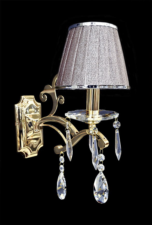 Wall Sconces Crystal : Wall Lamp - Crystal Wall Sconce - Wall Light - Isernia