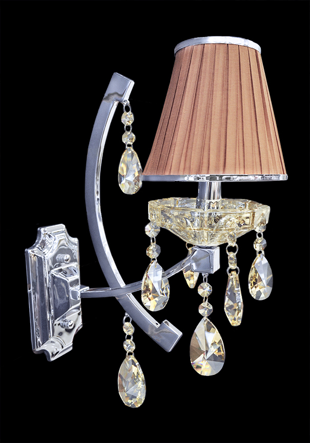 Wall Sconces With Crystal : Wall Lamp - Crystal Wall Sconce - Wall Light - Rovigo