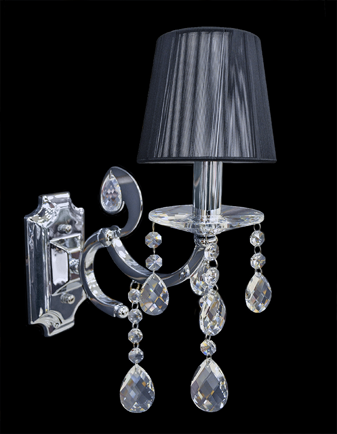 Wall Sconces Crystal : Wall Lamp - Crystal Wall Sconce - Wall Light - Venice