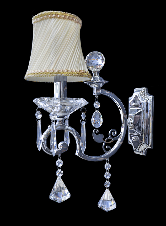 Wall Sconces With Crystal : Wall Lamp - Crystal Wall Sconce - Wall Light - Vercelli